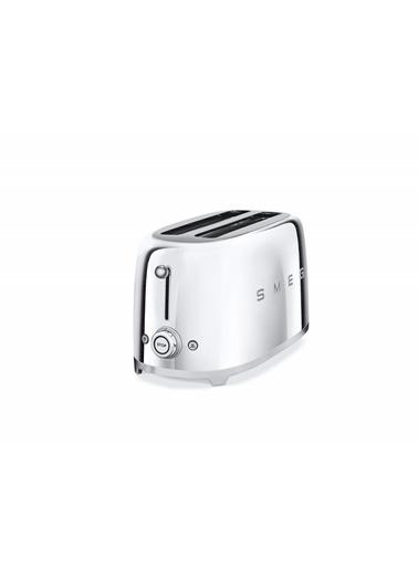 Smeg Tsf02Sseu Krom 2X4 Slot Ekmek Kızartma Makinesi Gri